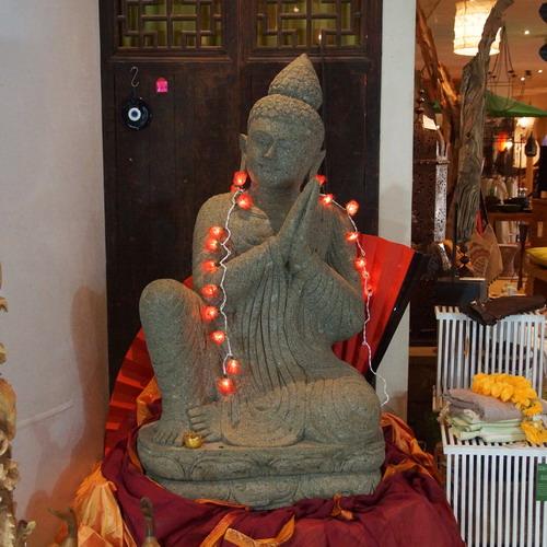 Buddha, Stein, sitzend, ca. 150cm