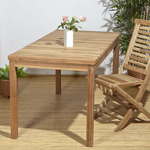 Gartentisch 150x75cm feines Teak