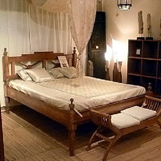 bett kolonial 140 r ckenteil halboffen. Black Bedroom Furniture Sets. Home Design Ideas