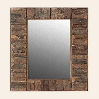 spiegel rustikal holzstreifen. Black Bedroom Furniture Sets. Home Design Ideas