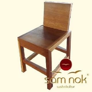 stuhl altes teak le sitzh he 45cm. Black Bedroom Furniture Sets. Home Design Ideas