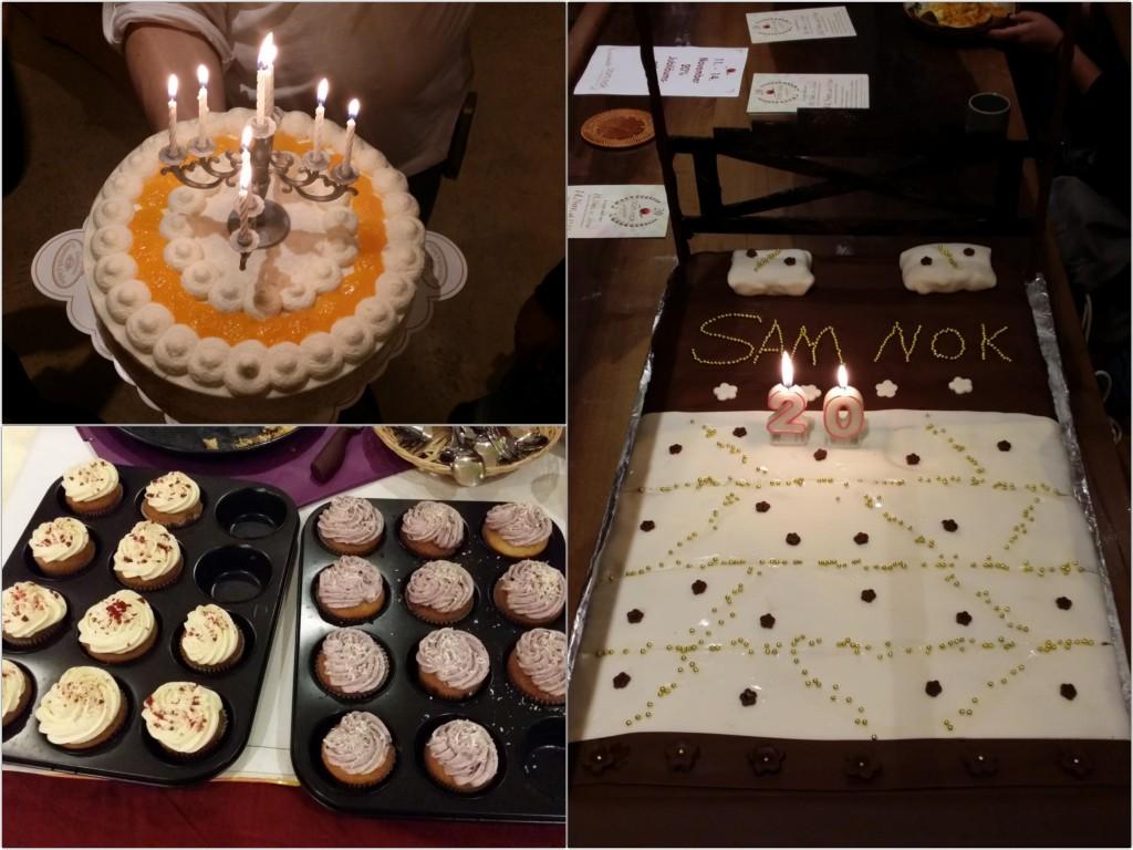 Torten zum 20. Geburtstag