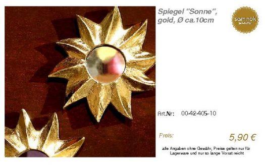 00-42-405-10-Spiegel _Sonne_, gold, Ø ca_sam nok