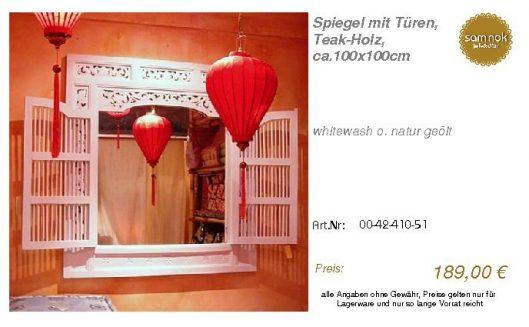 00-42-410-51-Spiegel mit Türen, Teak-Hol_sam nok