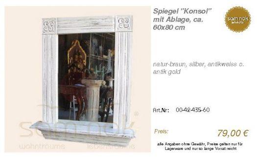 00-42-435-60-Spiegel _Konsol_ mit Ablage_sam nok