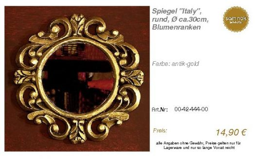00-42-444-00-Spiegel _Italy_, rund, Ø ca_sam nok