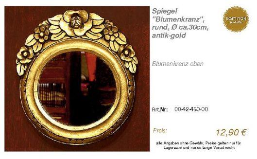 00-42-450-00-Spiegel _Blumenkranz_, rund_sam nok