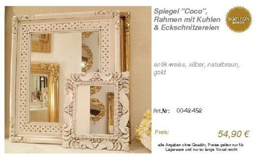 00-42-452-Spiegel _Coco_, Rahmen mit_sam nok