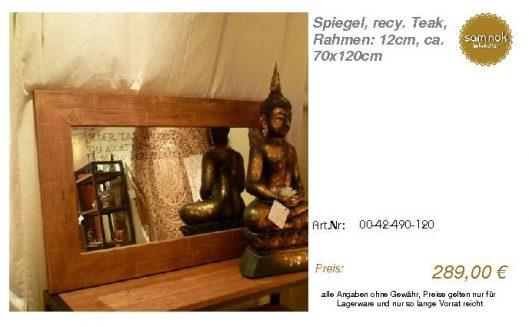 00-42-490-120-Spiegel, recy. Teak, Rahmen_sam nok