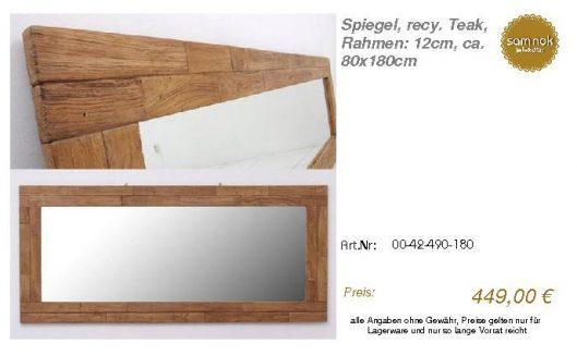 00-42-490-180-Spiegel, recy. Teak, Rahmen_sam nok