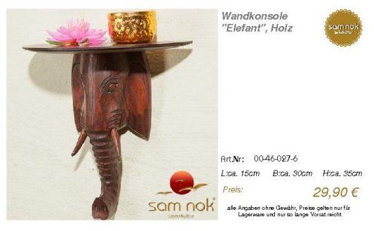 00-46-027-6-Wandkonsole _Elefant_, Holz_sam nok