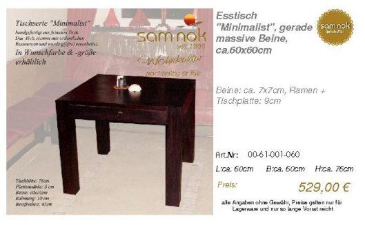 00-61-001-060-Esstisch _Minimalist_, gera_sam nok