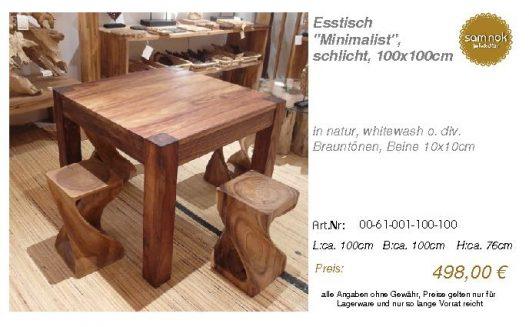 00-61-001-100-100-Esstisch _Minimalist_, schl_sam nok