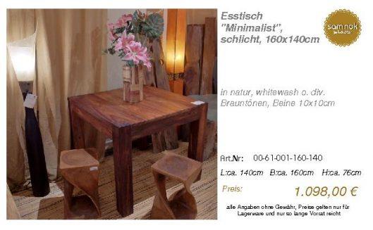00-61-001-160-140-Esstisch _Minimalist_, schl_sam nok