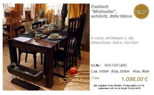 00-61-001-200-Esstisch _Minimalist_, schl_sam nok