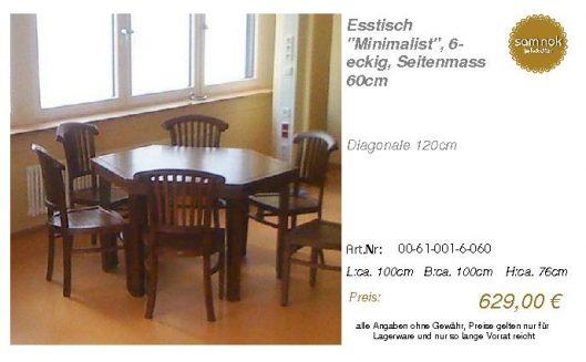 00-61-001-6-060-Esstisch _Minimalist_, 6-ec_sam nok