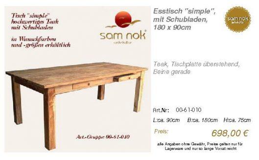 00-61-010-Esstisch _simple_, mit Schu_sam nok