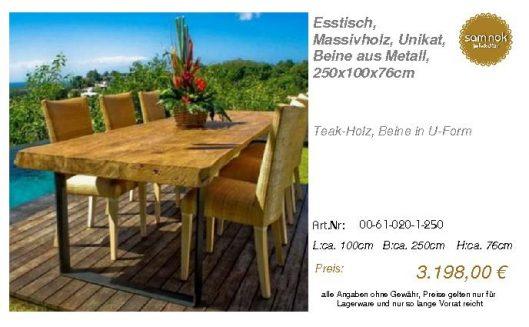 00-61-020-1-250-Esstisch, Massivholz, Unika_sam nok
