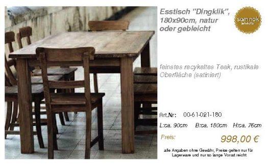 00-61-021-180-Esstisch _Dingklik_, 180x90_sam nok