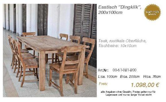 00-61-021-200-Esstisch _Dingklik_, 200x10_sam nok