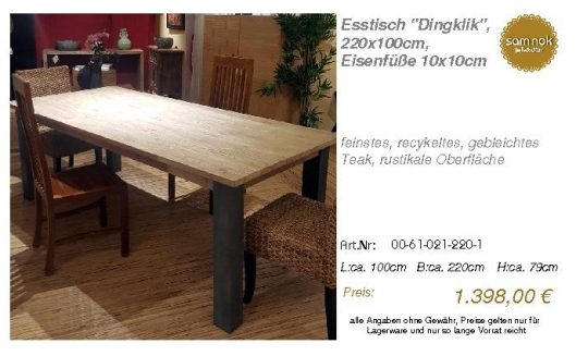 00-61-021-220-1-Esstisch _Dingklik_, 220x10_sam nok