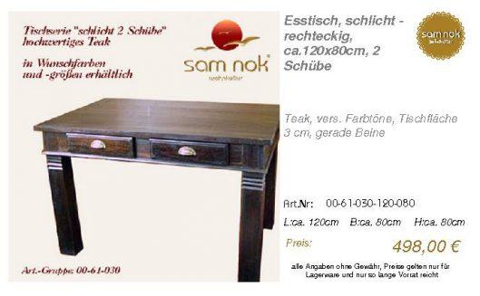 00-61-030-120-080-Esstisch, schlicht - rechte_sam nok