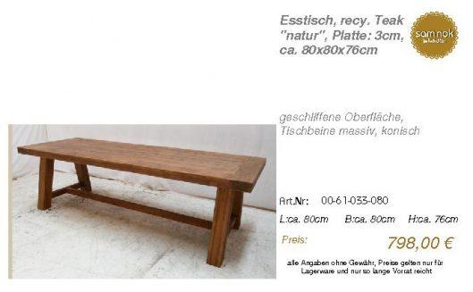 00-61-033-080-Esstisch, recy. Teak _natur_sam nok
