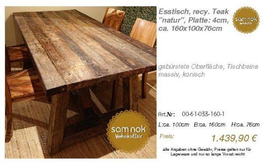 00-61-033-160-1-Esstisch, recy. Teak _natur_sam nok