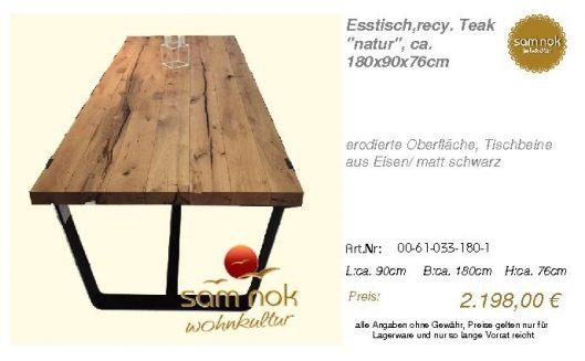 00-61-033-180-1-Esstisch,recy. Teak _natur__sam nok