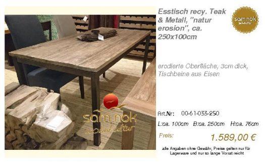 00-61-033-250-Esstisch recy. Teak & Metal_sam nok