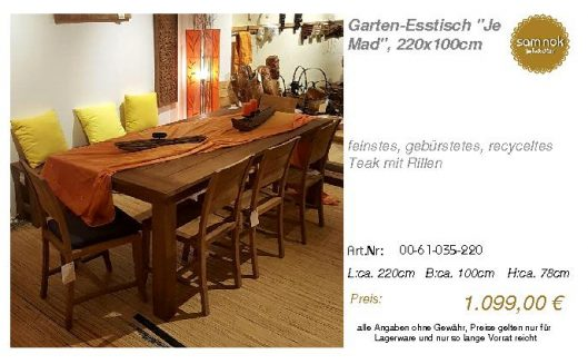 00-61-035-220-Garten-Esstisch _Je Mad_, 2_sam nok