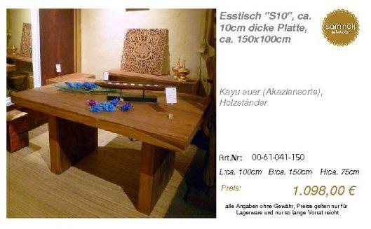00-61-041-150-Esstisch _S10_, ca. 10cm di_sam nok