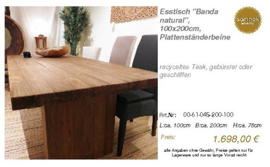 00-61-045-200-100-Esstisch _Banda natural_, 1_sam nok