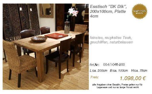 00-61-048-200-Esstisch _DK Dik_, 200x100c_sam nok