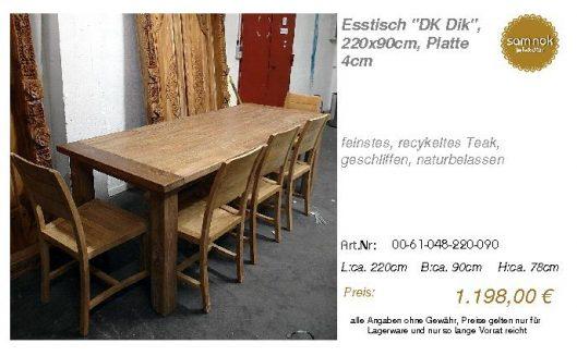 00-61-048-220-090-Esstisch _DK Dik_, 220x90cm_sam nok