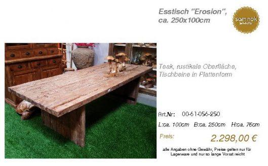 00-61-056-250-Esstisch _Erosion_, ca. 250_sam nok