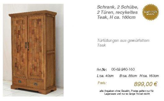 00-62-240-160-Schrank, 2 Schübe, 2 Türen,