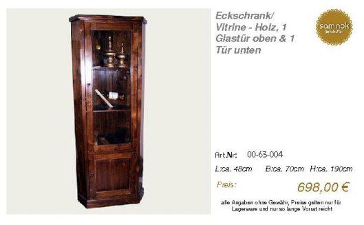 00-63-004-Eckschrank_ Vitrine - Holz,