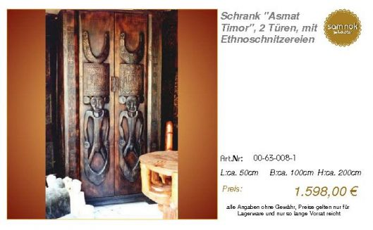 00-63-008-1-Schrank _Asmat Timor_, 2 Tü