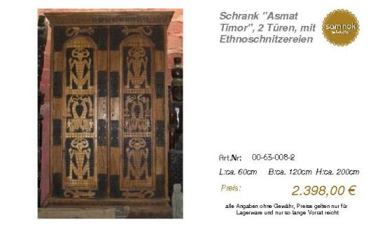 00-63-008-2-Schrank _Asmat Timor_, 2 Tü