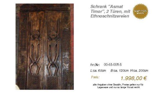 00-63-008-3-Schrank _Asmat Timor_, 2 Tü