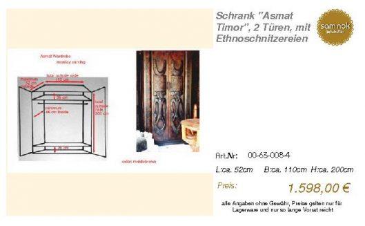 00-63-008-4-Schrank _Asmat Timor_, 2 Tü