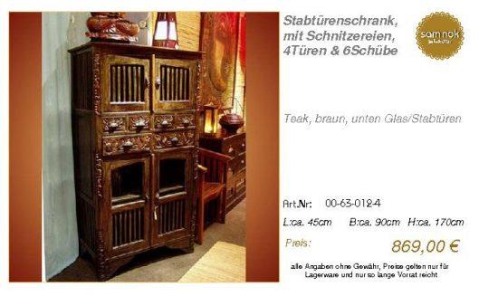 00-63-012-4-Stabtürenschrank, mit Schni