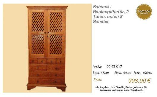 00-63-017-Schrank, Rautengittertür, 2