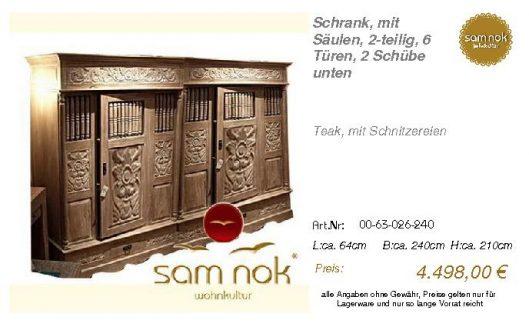 00-63-026-240-Schrank, mit Säulen, 2-teil