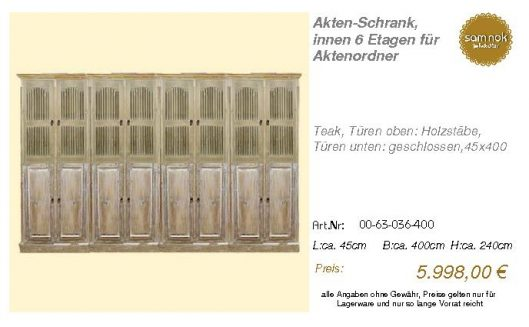 00-63-036-400-Akten-Schrank, innen 6 Etag