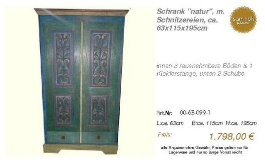 00-63-099-1-Schrank _natur_, m. Schnitz