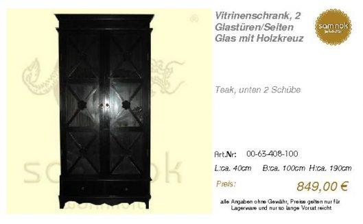 00-63-408-100-Vitrinenschrank, 2 Glastüre