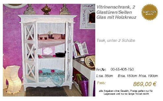 00-63-408-150-Vitrinenschrank, 2 Glastüre