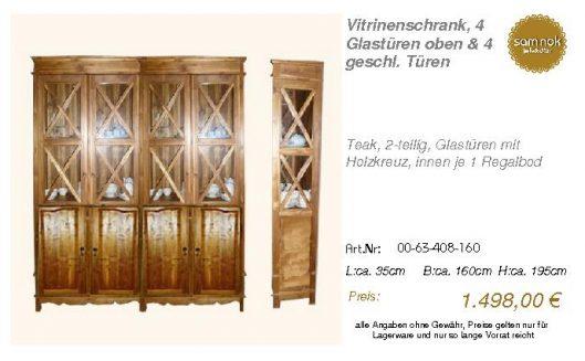 00-63-408-160-Vitrinenschrank, 4 Glastüre